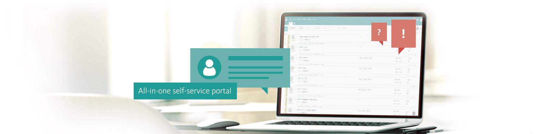 AI based self-service portal